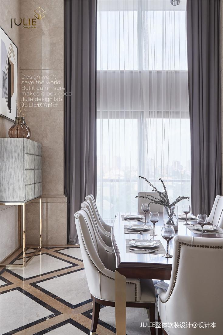 简洁51平美式复式餐厅设计美图