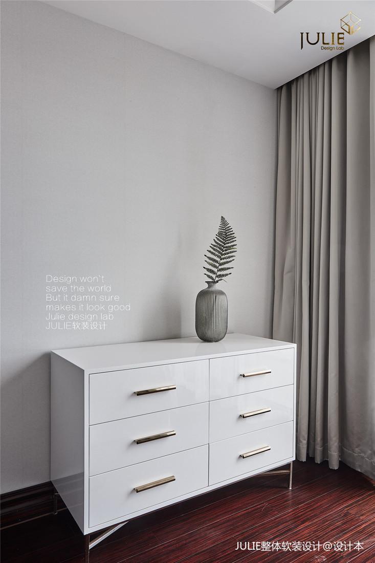 浪漫67平美式复式卧室案例图