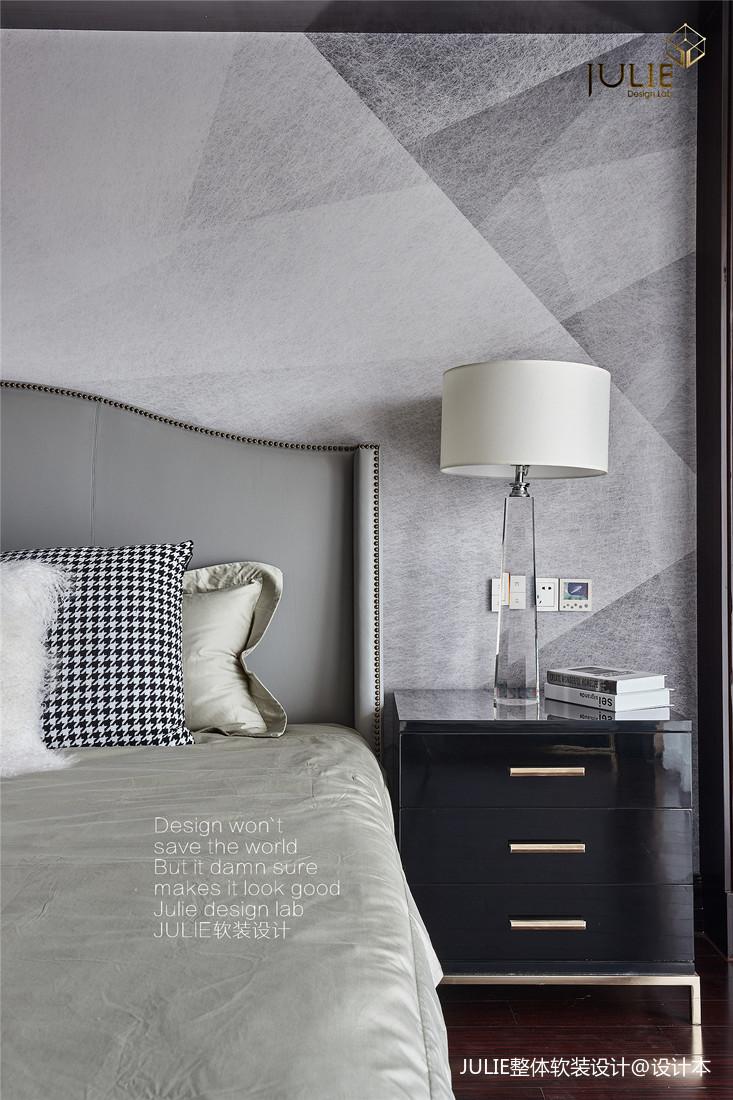 优雅72平美式复式卧室装潢图