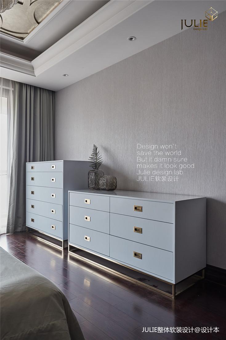 精美48平美式复式卧室布置图