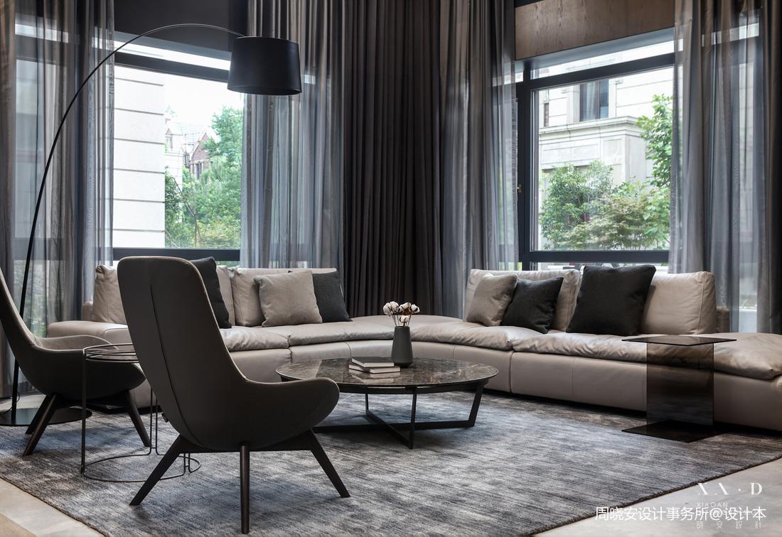 质朴400平现代别墅客厅图片欣赏