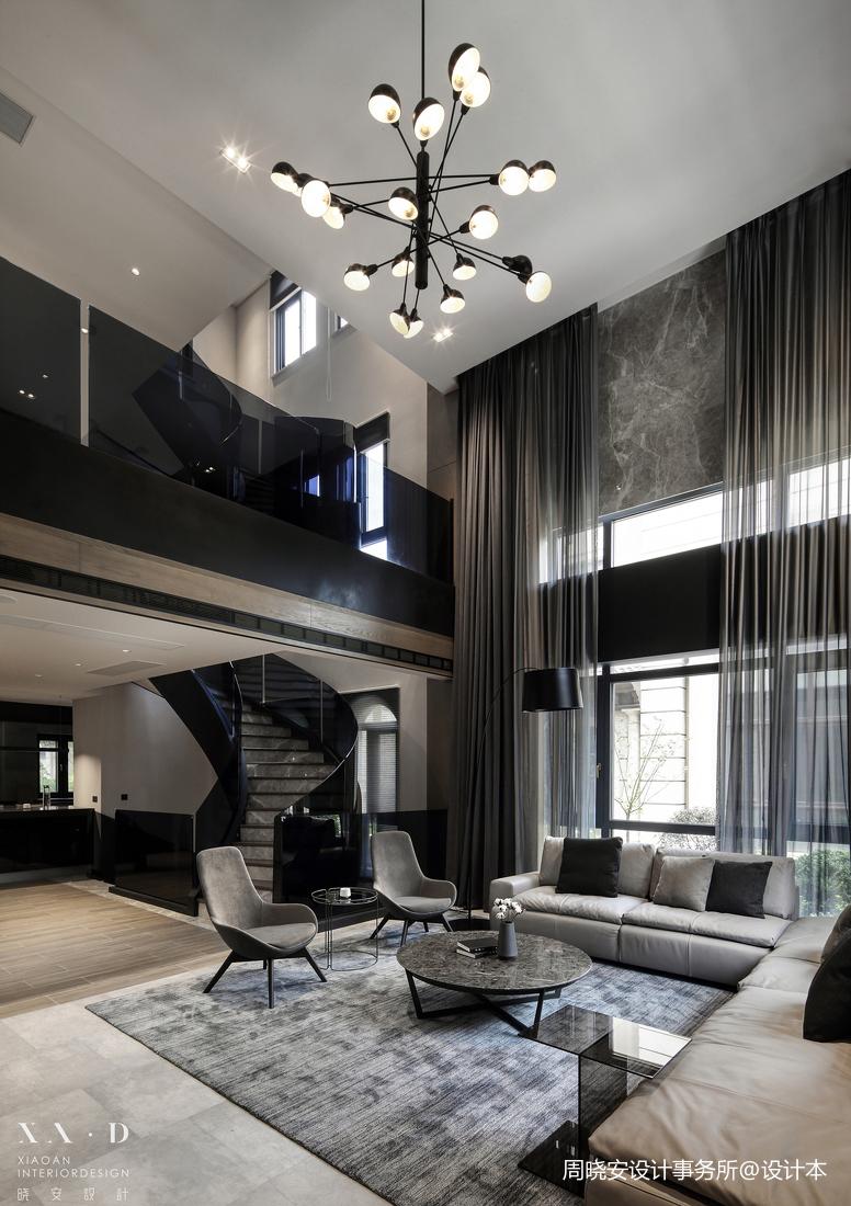 大气498平现代别墅客厅实拍图