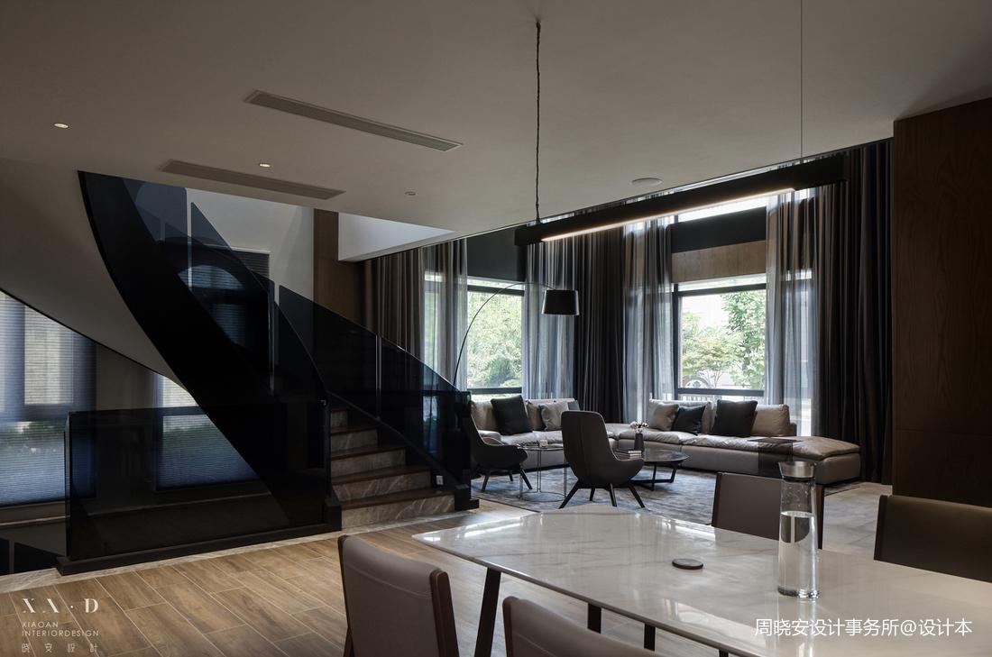 浪漫444平现代别墅客厅设计图