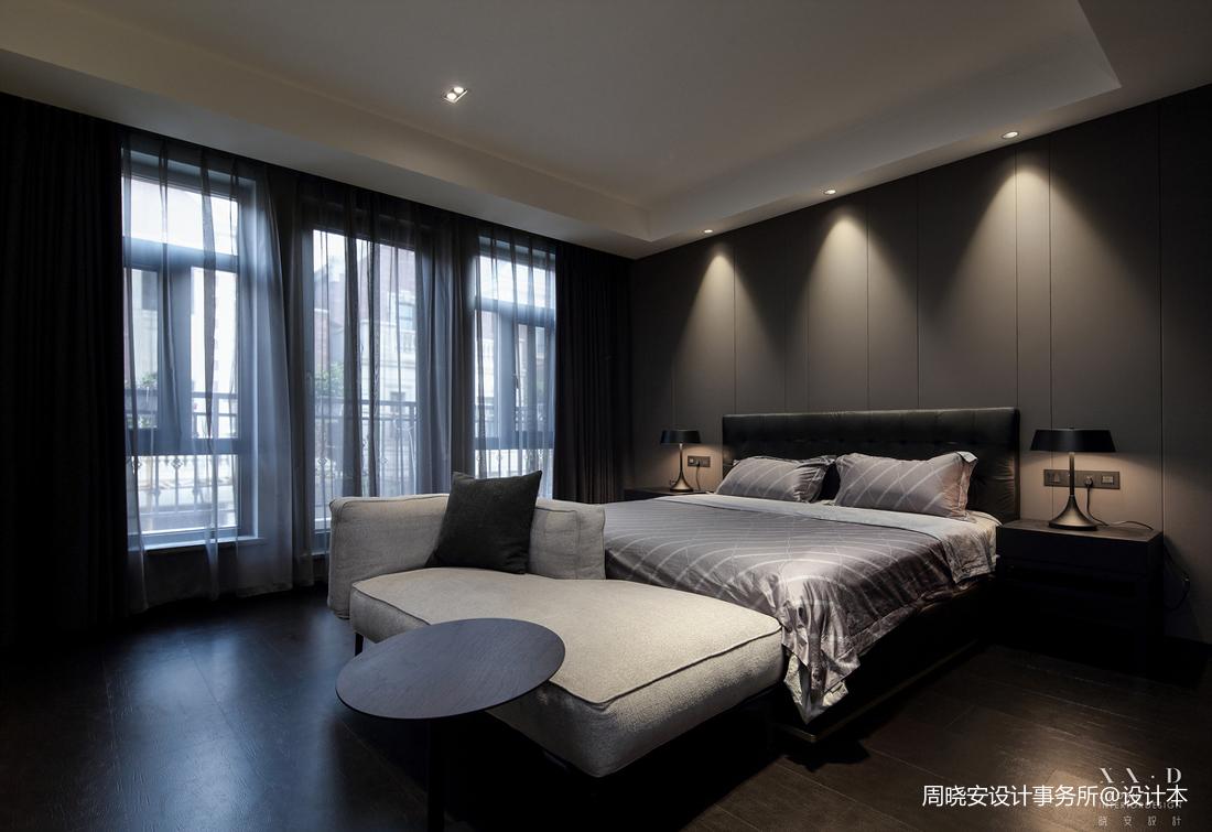 浪漫828平现代别墅卧室实景图