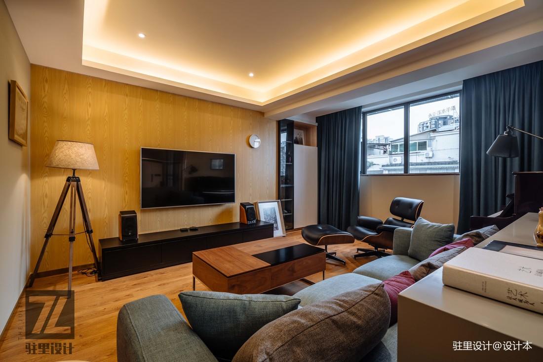 简洁83平现代复式客厅装修美图