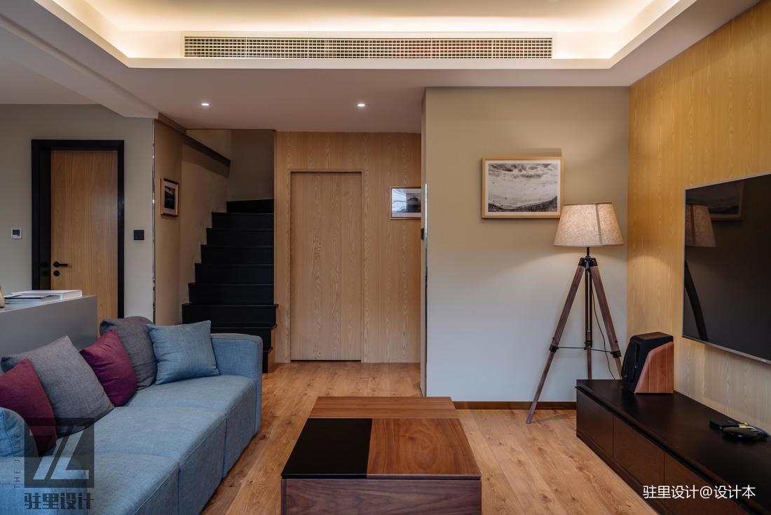 优美80平现代复式客厅装修图