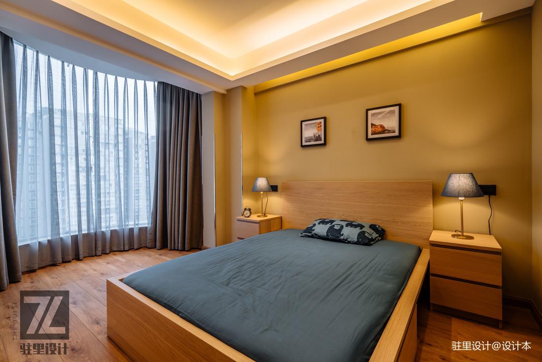 温馨66平现代复式卧室图片大全