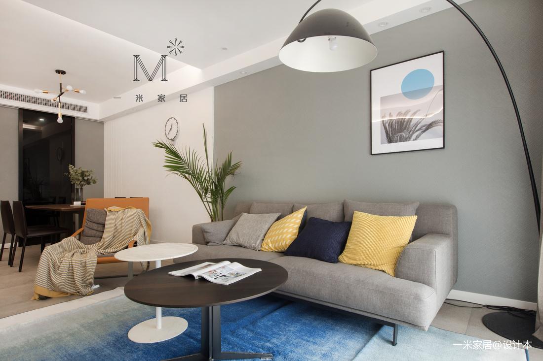浪漫68平现代二居客厅图片大全