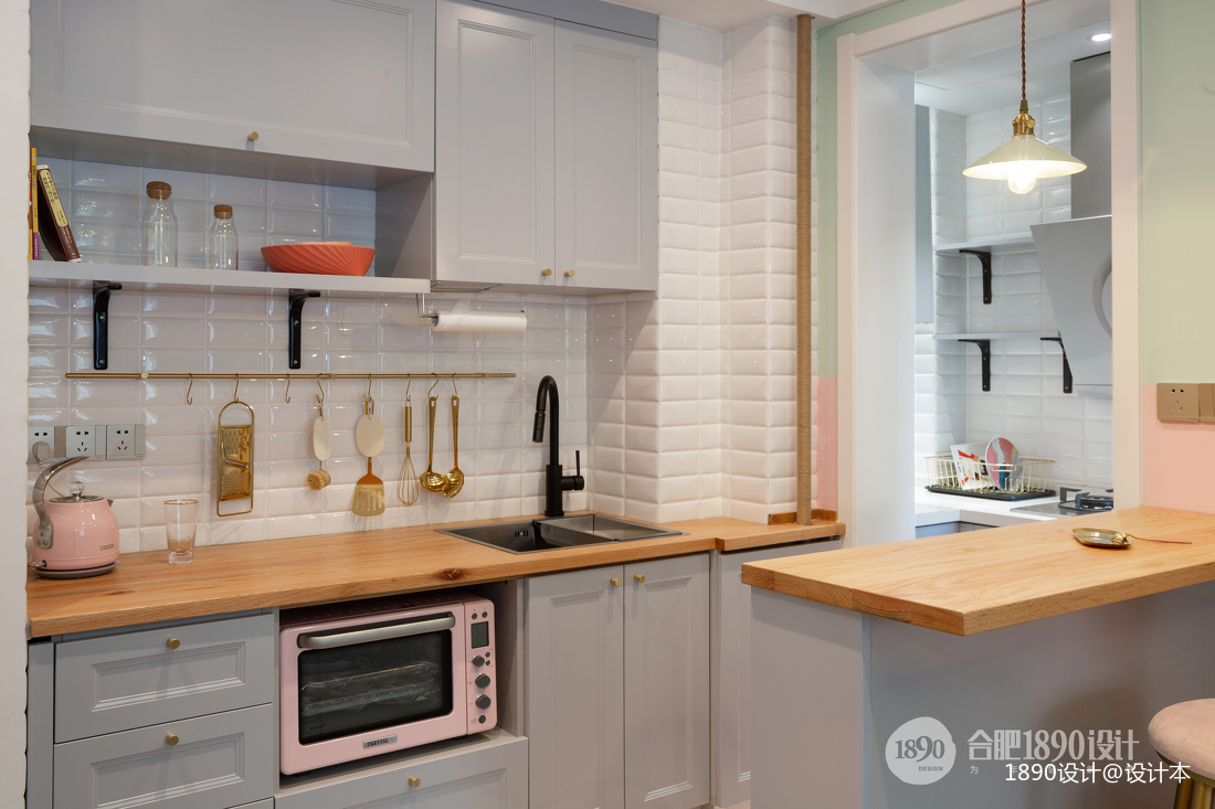 大气24平北欧小户型厨房布置图