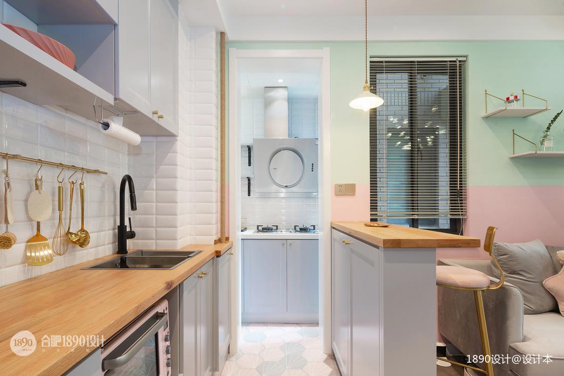 明亮22平北欧小户型厨房布置图