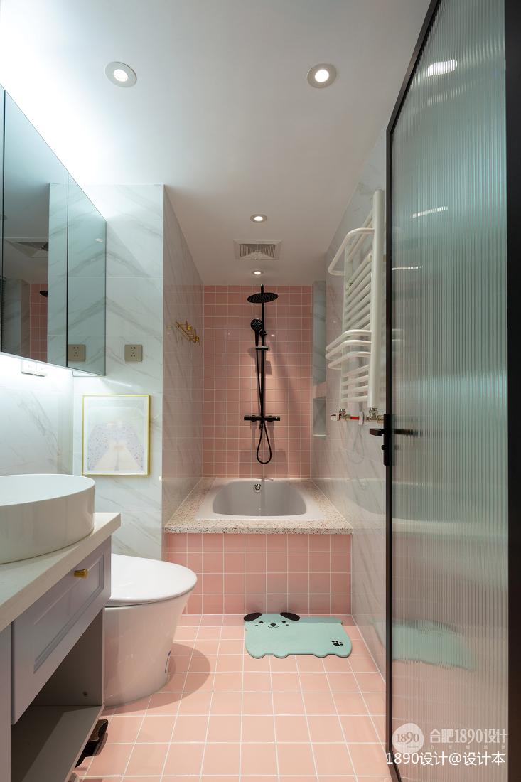 浪漫31平北欧小户型卫生间设计案例