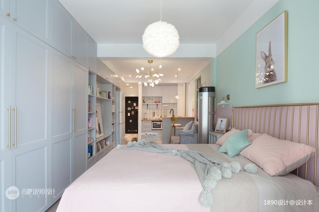 简洁45平北欧小户型卧室实拍图