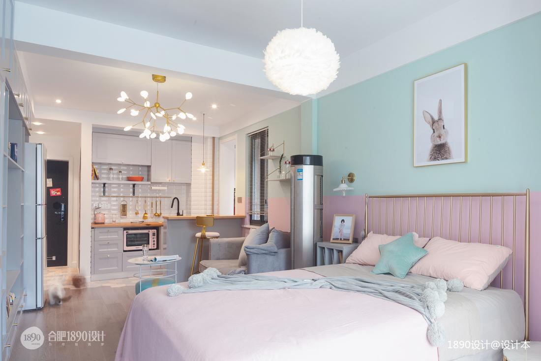 精致39平北欧小户型卧室装修图片