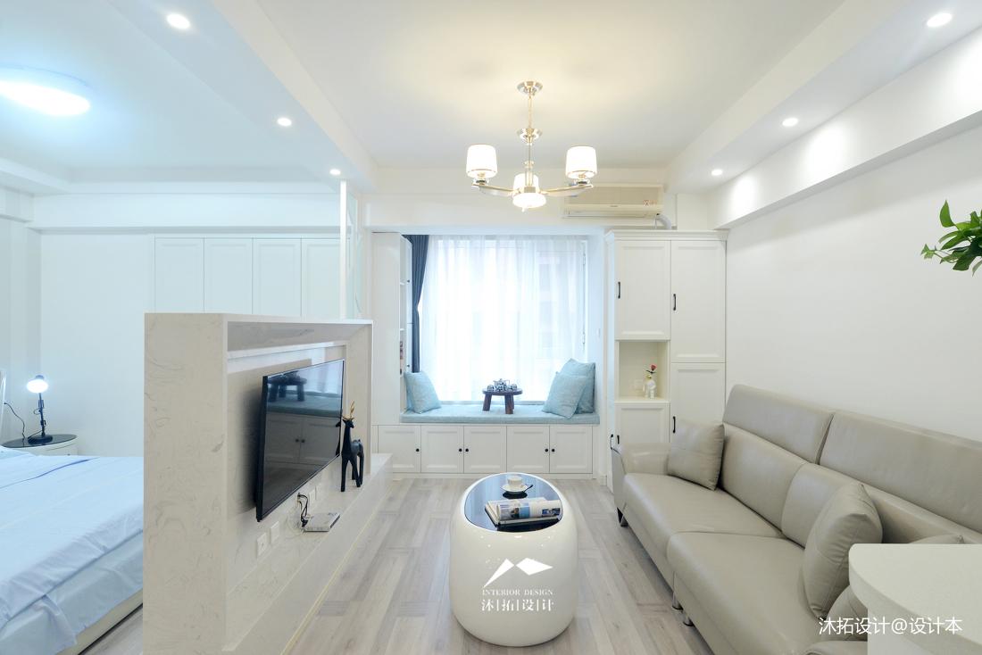 悠雅48平现代小户型客厅装修效果图