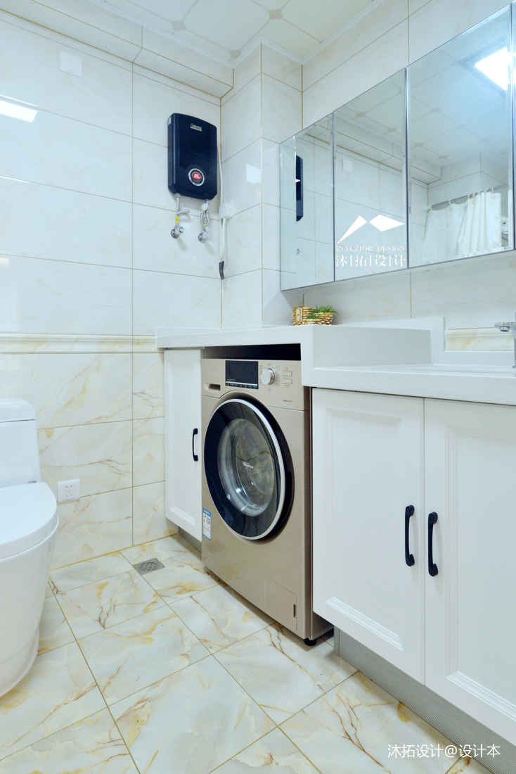 质朴31平现代小户型卫生间装修图