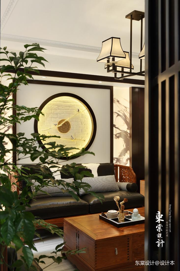 浪漫74平中式復式客廳美圖