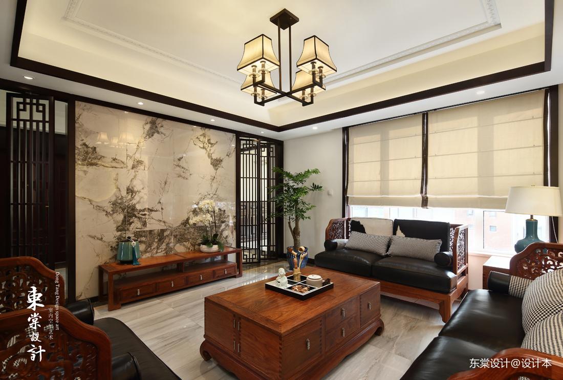 201945平中式复式客厅装修案例