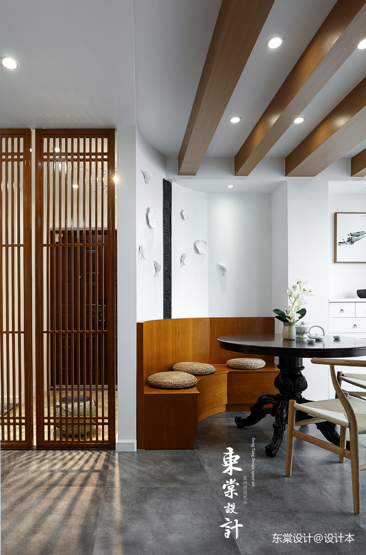 优美102平中式三居餐厅案例图