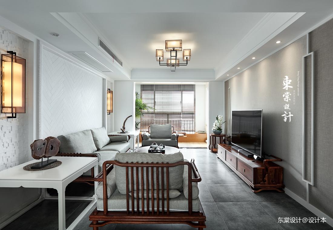 典雅74平中式三居客厅装饰图片