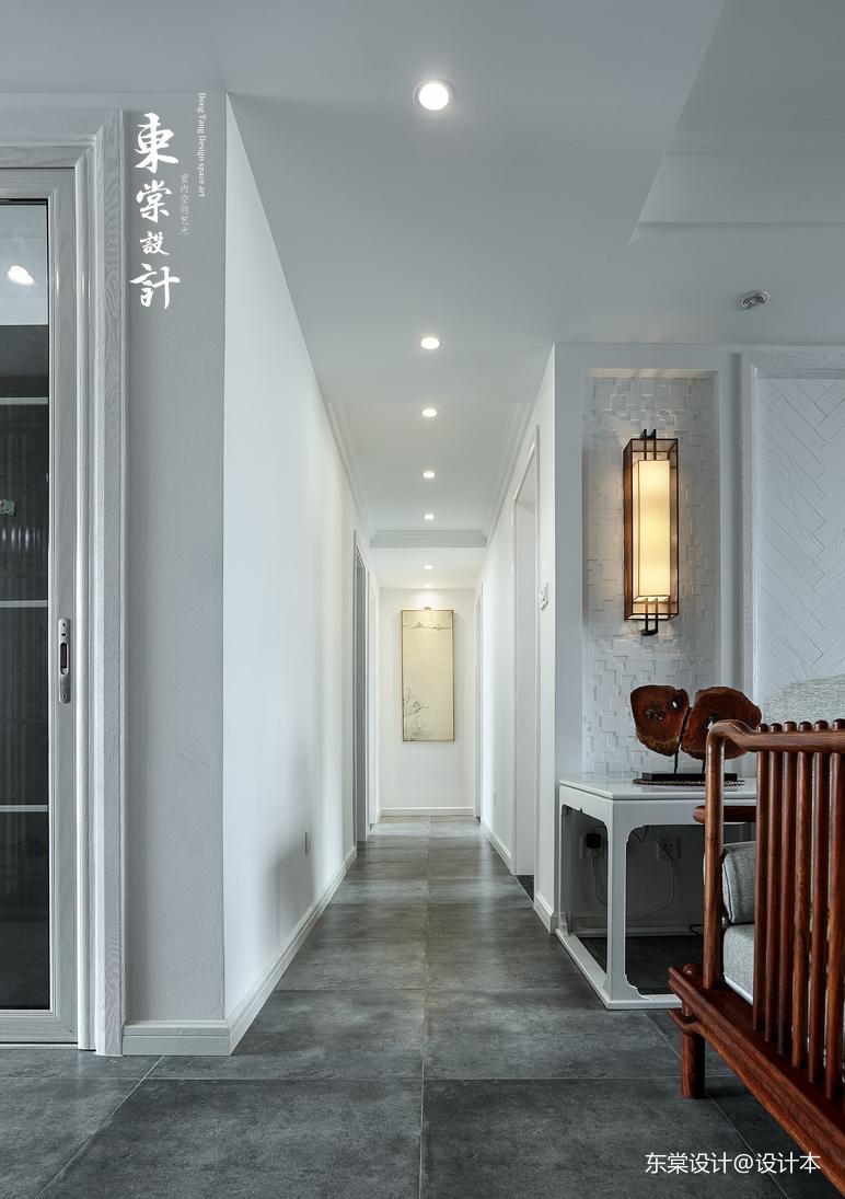 简洁96平中式三居过道装饰图片