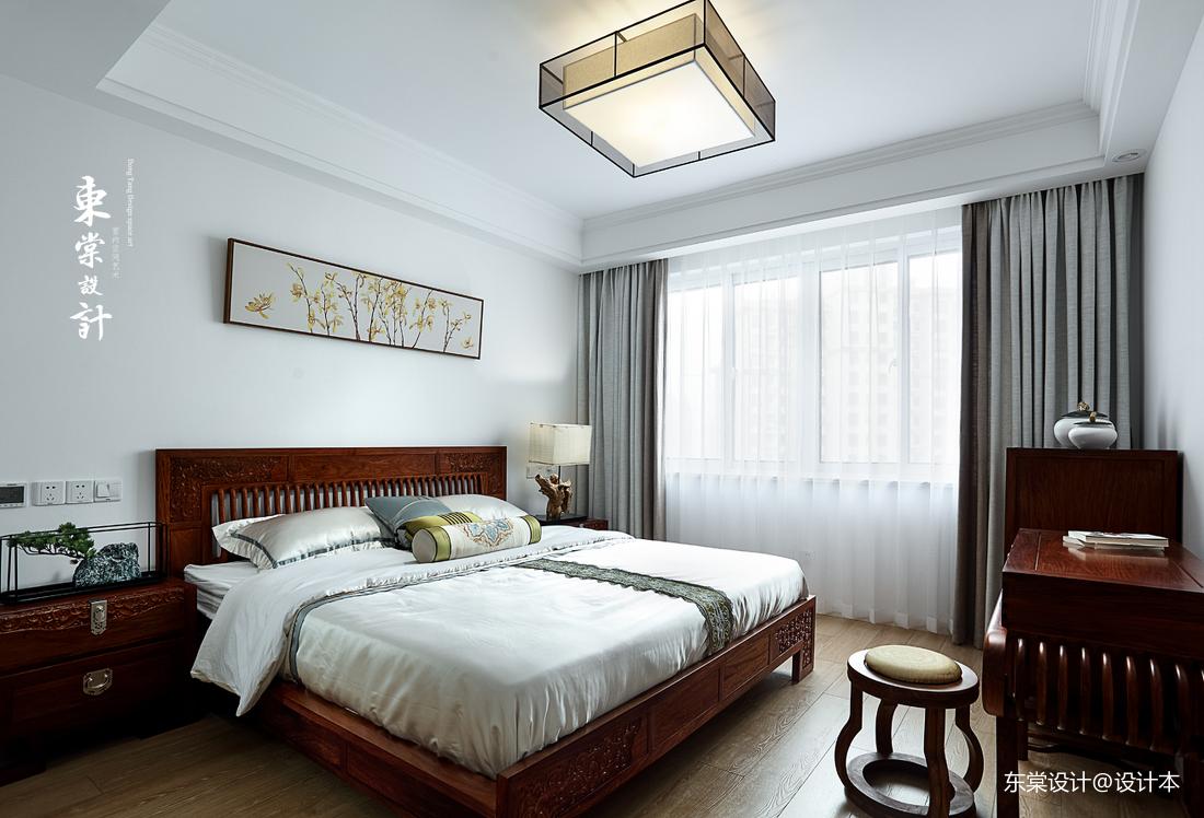 温馨113平中式三居卧室效果图欣赏