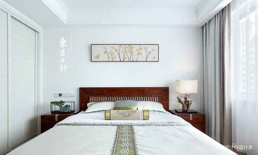 大气96平中式三居卧室图片欣赏