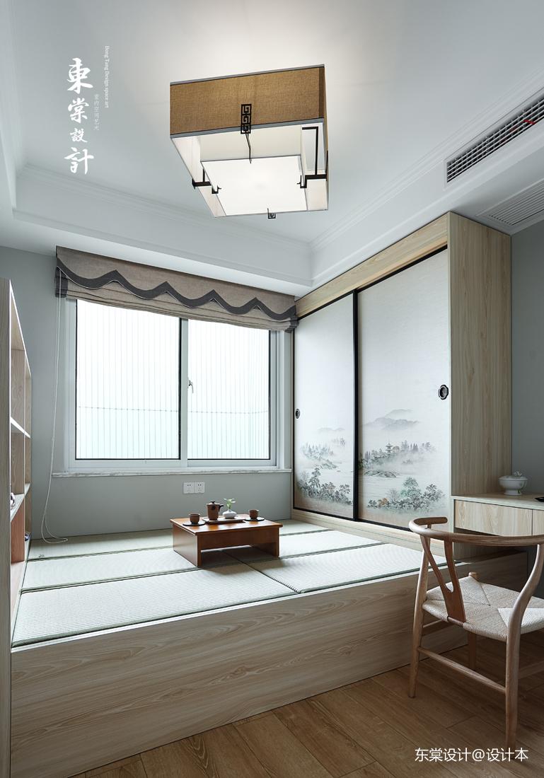 温馨97平中式三居书房装修设计图