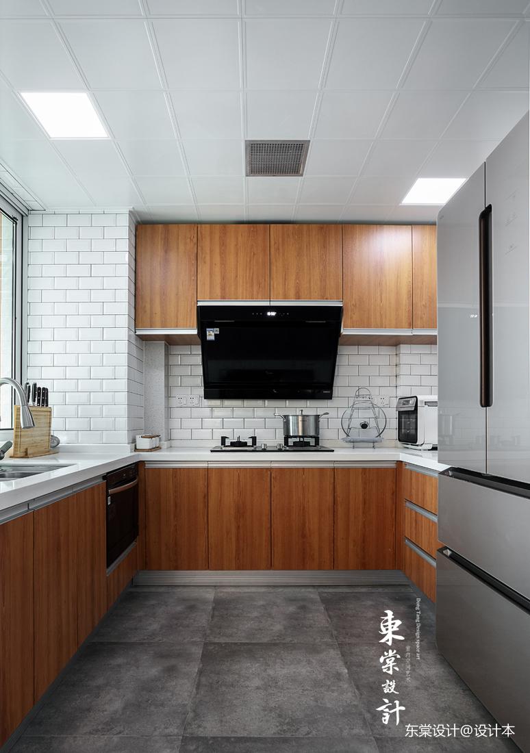 明亮85平中式三居餐厅装修效果图