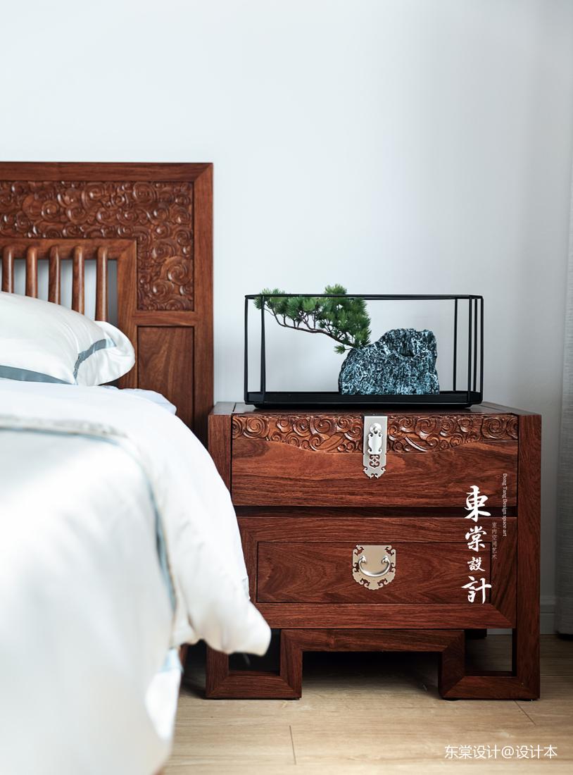 优美88平中式三居卧室设计图