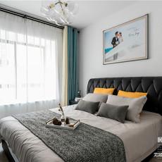 优美92平现代三居卧室装潢图