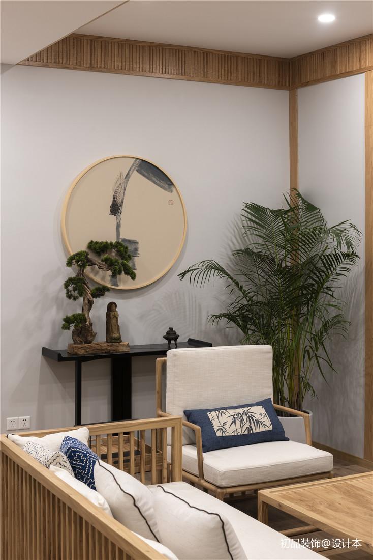優雅45平中式復式客廳裝修裝飾圖