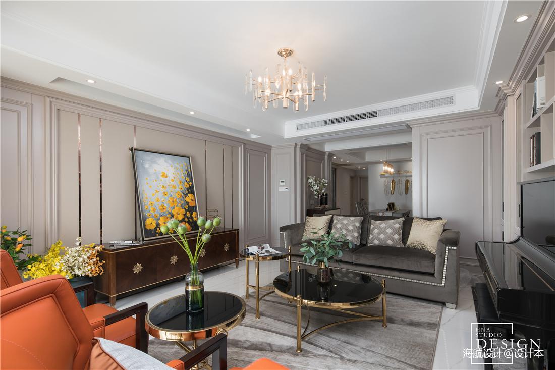 精致150平美式三居客厅装饰美图