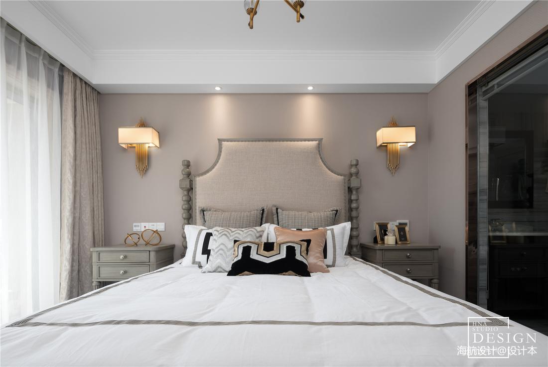 典雅74平美式三居卧室装饰图