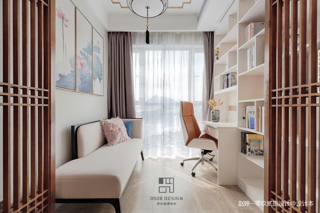 舒适的中式四居室书房设计