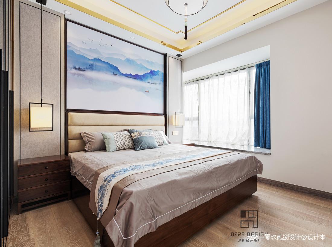 舒适的中式四居室卧室设计