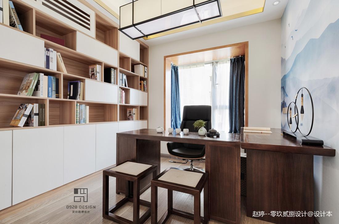 简雅的中式四居室书房设计