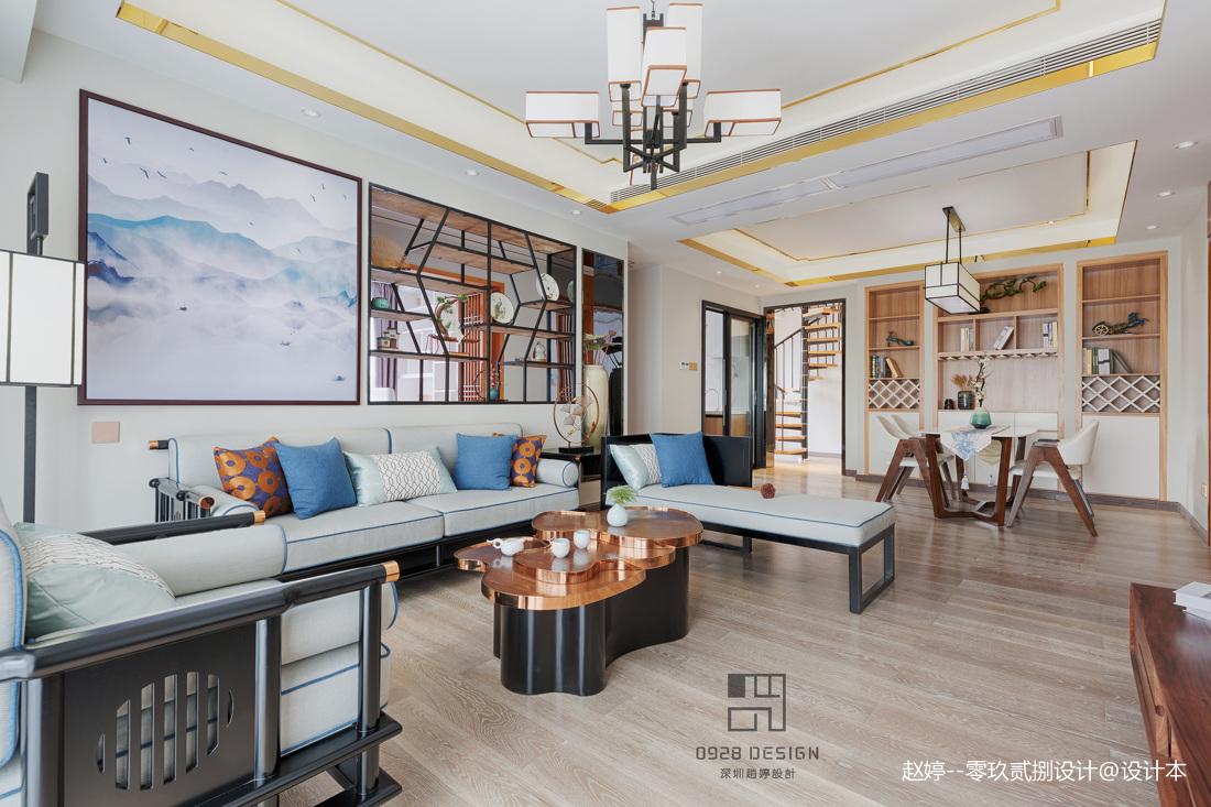 舒适的中式四居室客厅设计