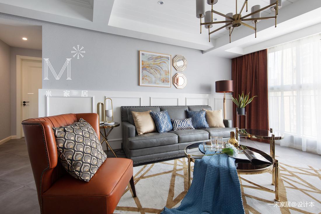 大气59平美式二居客厅效果图欣赏