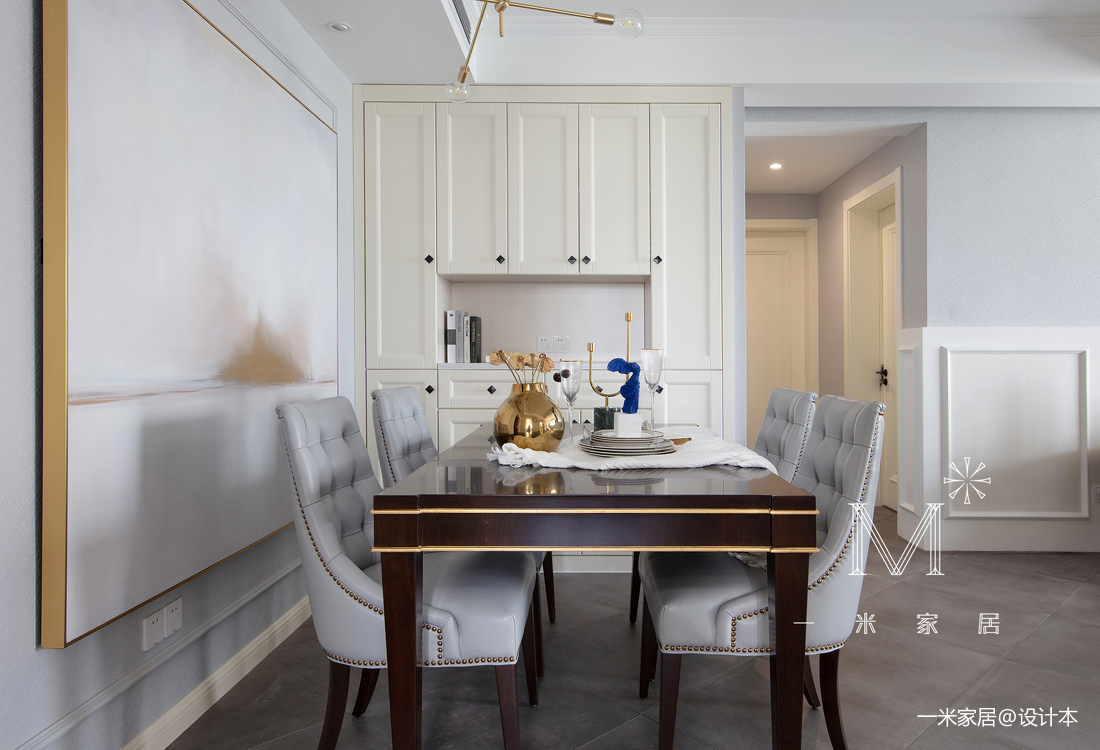 典雅52平美式二居客厅实景图
