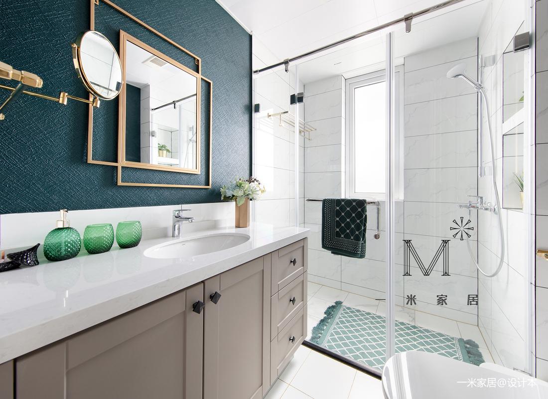 浪漫90平美式二居客厅装修设计图
