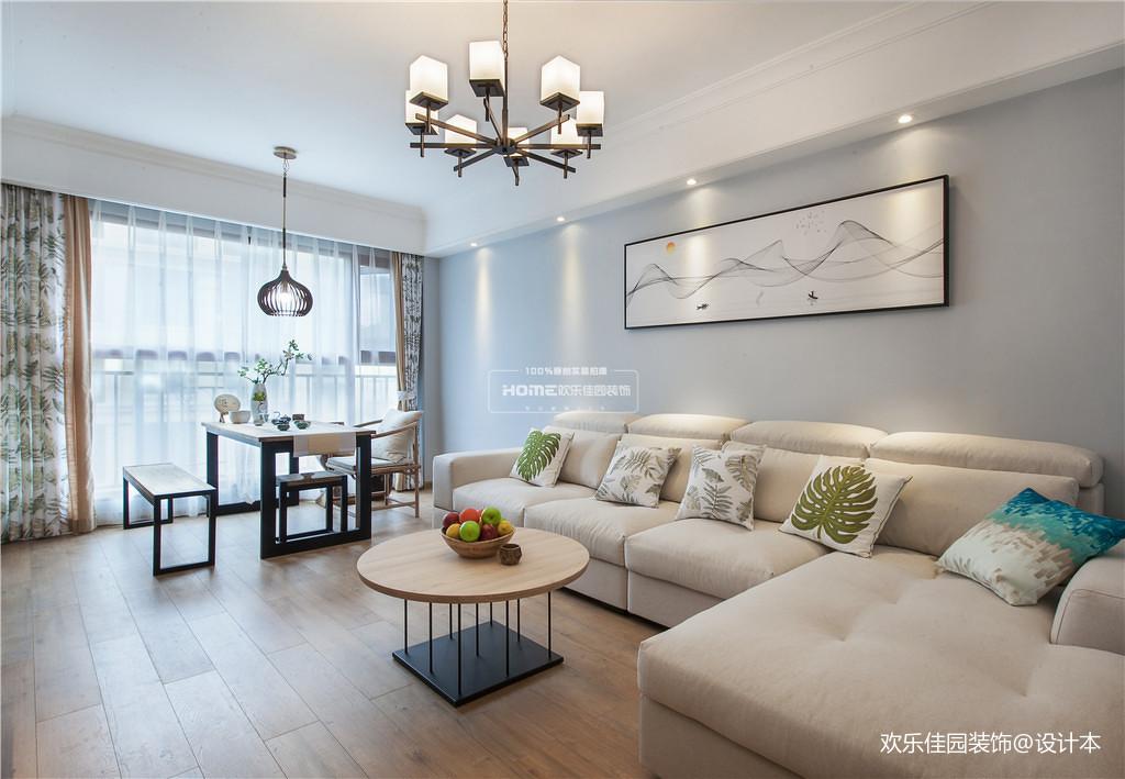 轻奢80平北欧三居客厅装饰美图