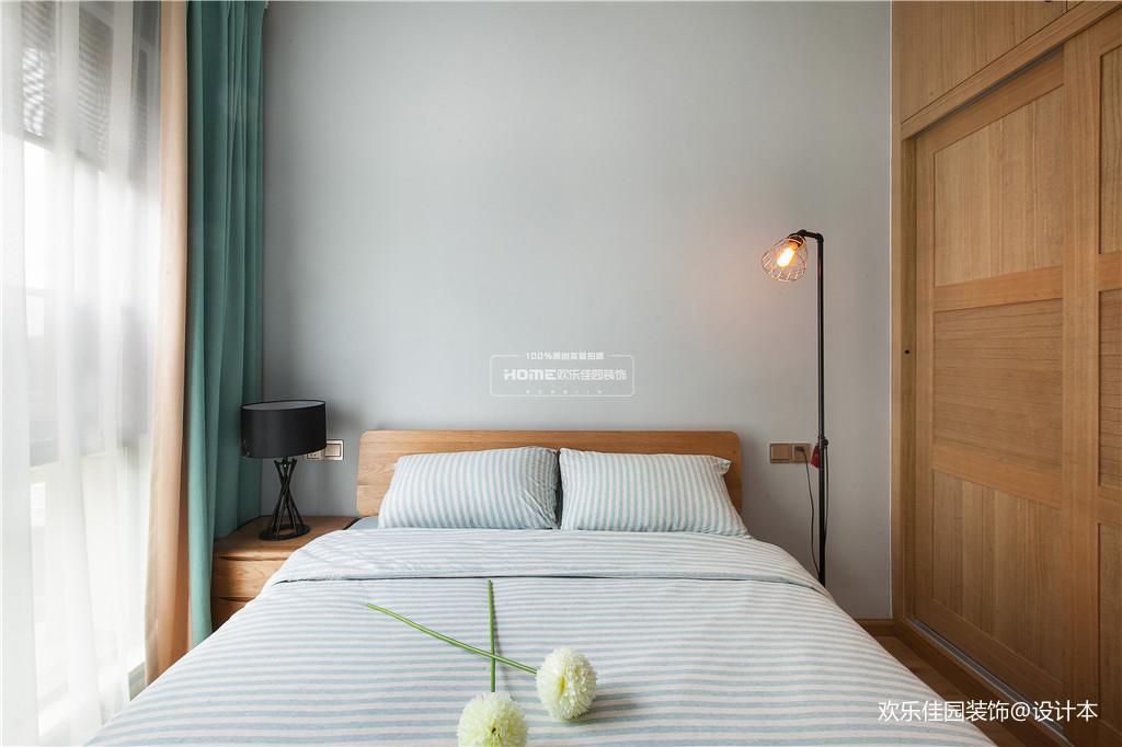 优美101平北欧三居卧室装饰图