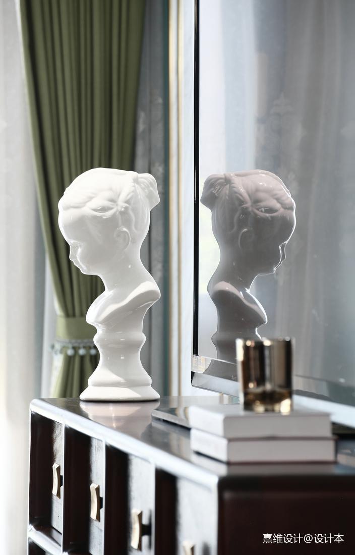 優美61平中式復式客廳裝飾美圖