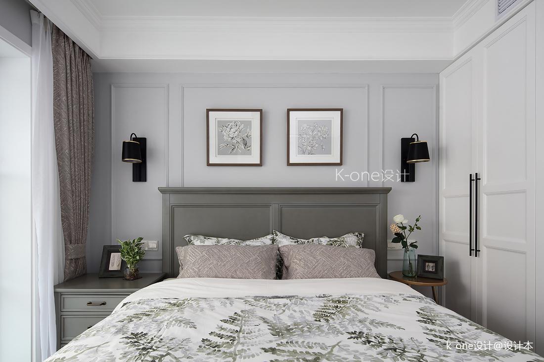 质朴90平美式二居卧室装修图