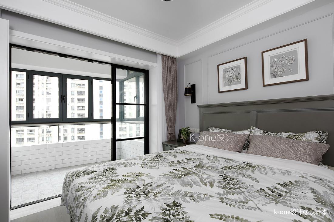 优美64平美式二居卧室图片欣赏