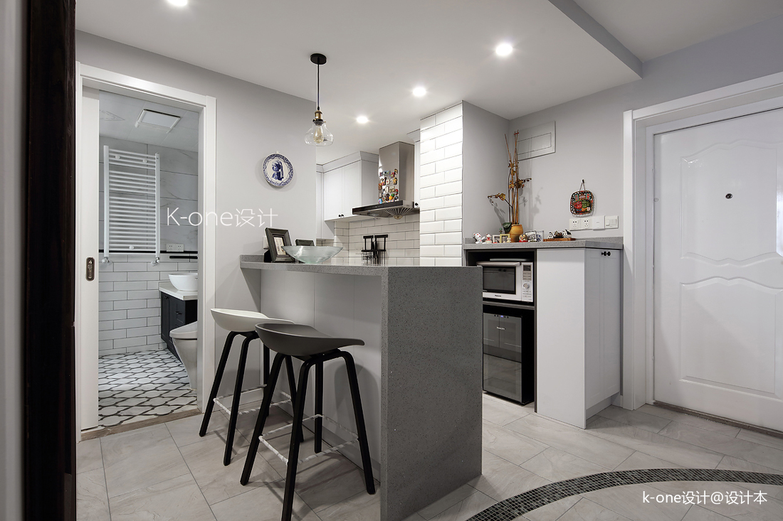 浪漫62平美式二居厨房装饰美图