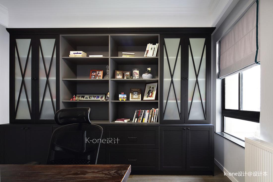 典雅56平美式二居书房装修图片