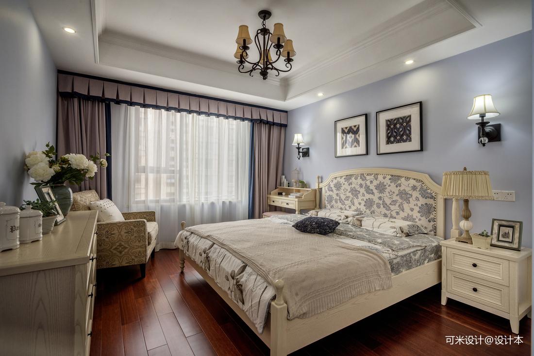 精美152平美式四居卧室布置图