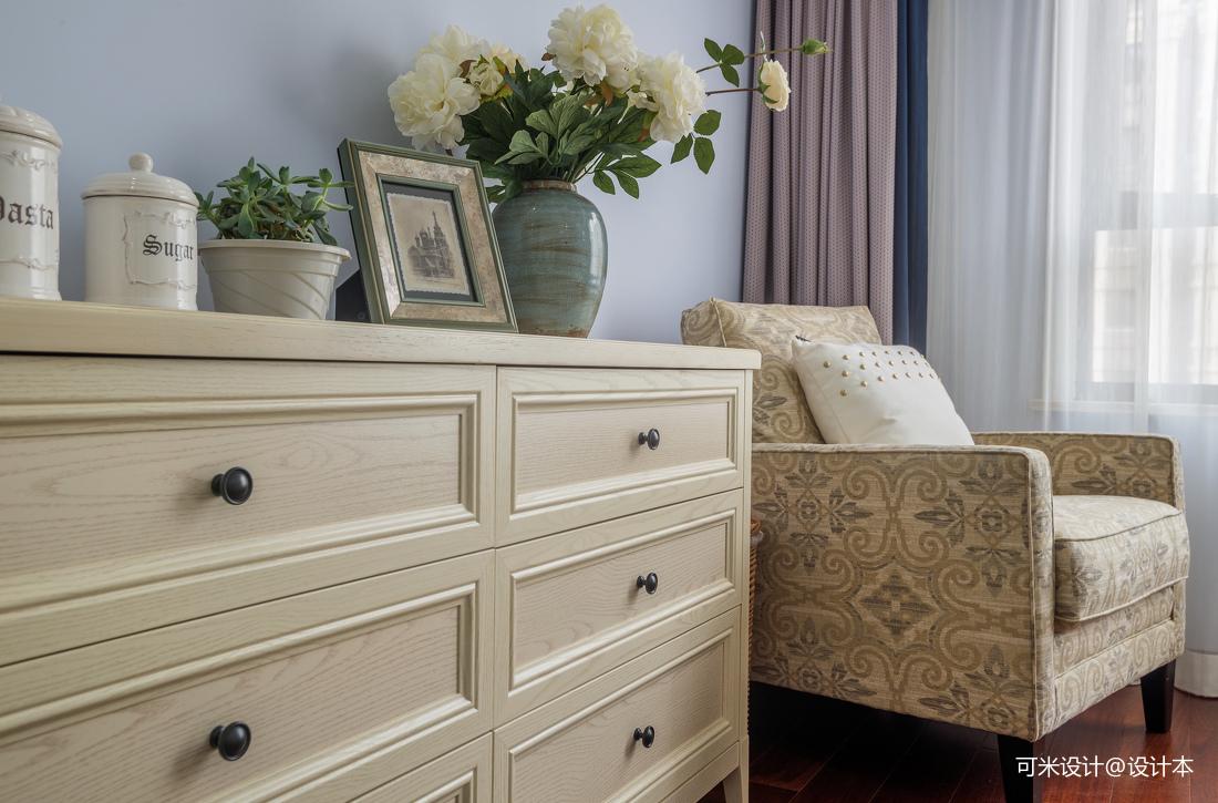 质朴124平美式四居卧室装修装饰图
