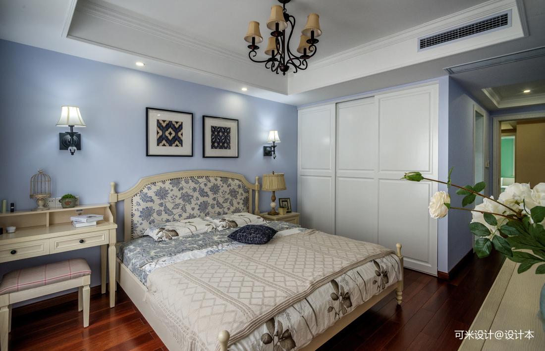 优雅122平美式四居卧室实景图片